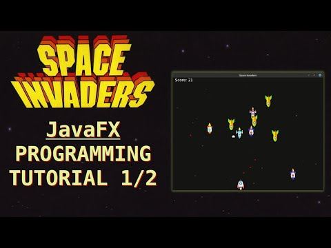 Programming Space Invaders in Java (fx) Tutorial 1/2 thumbnail