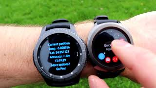 Samsung Gear Sport & Gear S3 GPS comparison Part 1 Revised - Speedometer and Quick GPS standalone