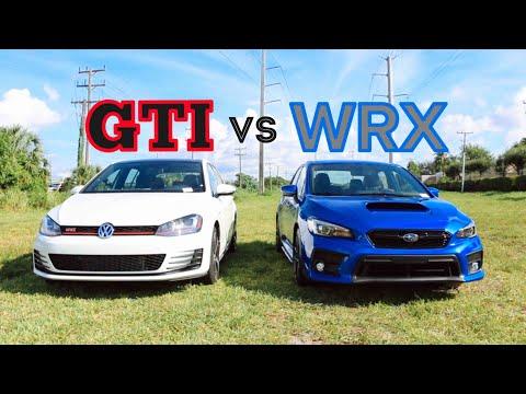 2018 Subaru WRX vs 2017 Volkswagen Golf GTI