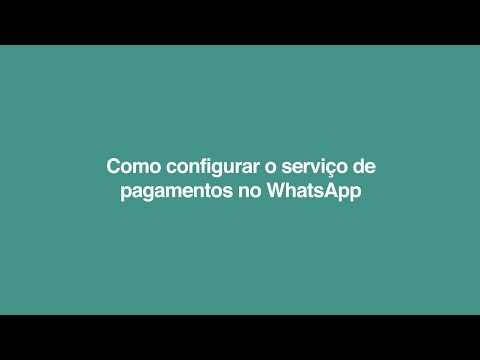 Como configurar o serviço de pagamentos no WhatsApp?   Pagamentos no WhatsApp com Nubank