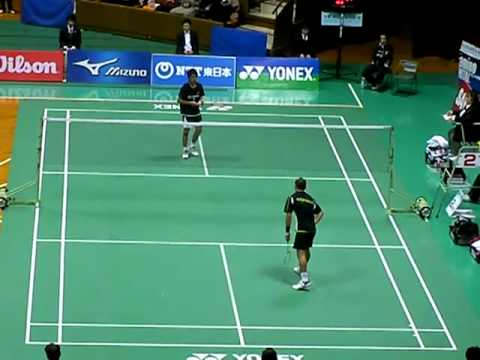 2009年度全日本バドミントン準決勝MS佐々木翔v.s.佐藤翔治(1)1G-1