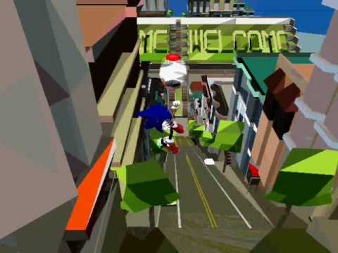 Sonic Adventure 2 – Glitchy Escape (Null DC graphic error)
