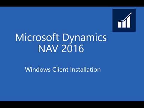 Microsoft Dynamics NAV 2016 Windows Client Installation streaming vf