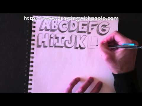 Drawing the alphabet in 3D with Paolo Morrone