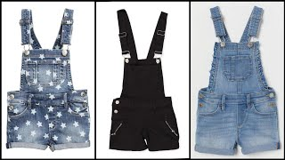 Distressed Rolled Hem Overall …