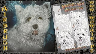 "Airbrush By Wow No.501 "" West Highland Terrier "" Hd"