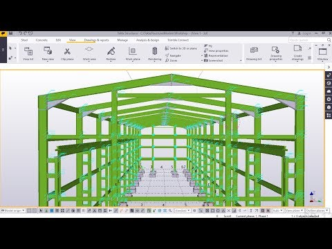 How to Create Steel beam Floor for In situ Concrete   Tekla Structure 2017i