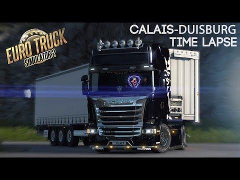 Euro Truck Simulator 2 Multiplayer Duisburg - Calais Road Timelapse #2