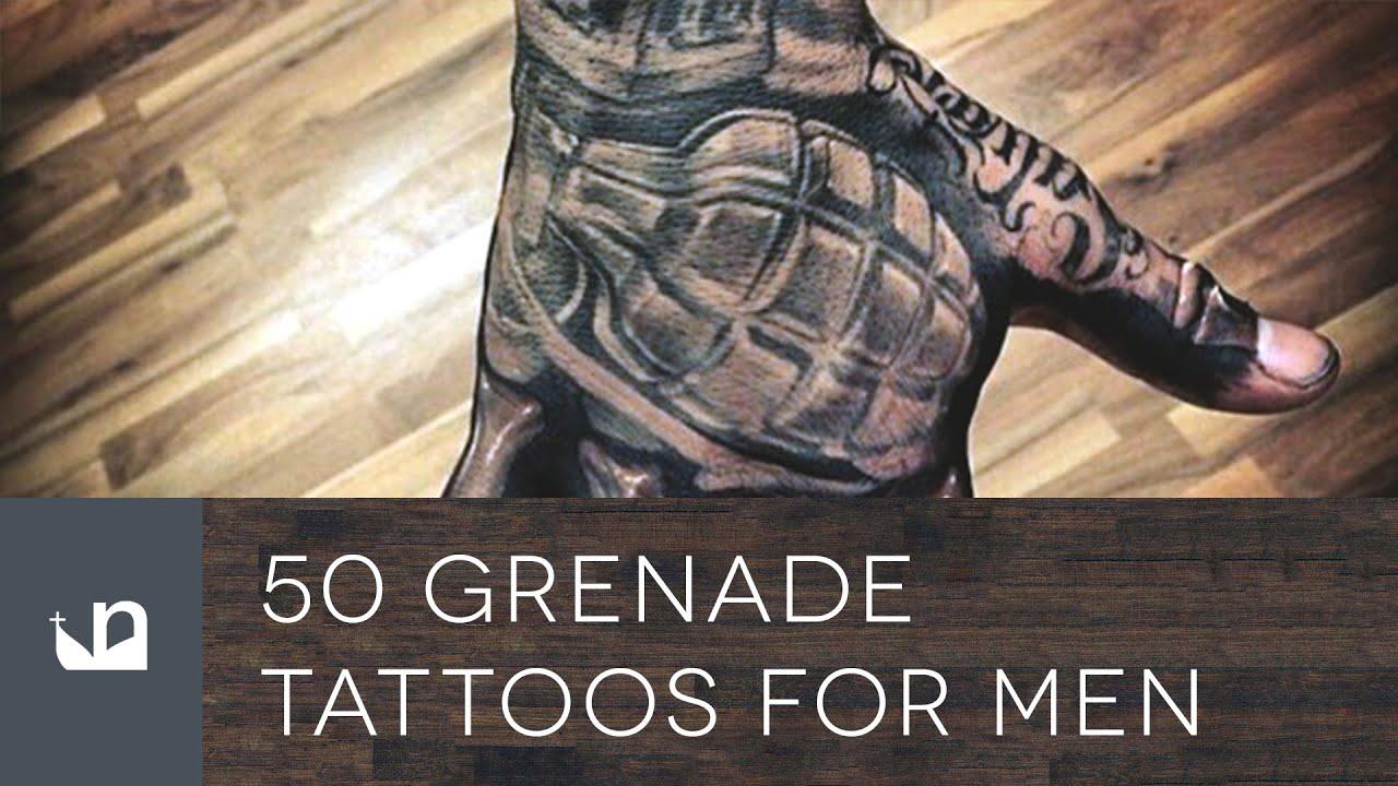 50 Grenade Tattoo Designs For Men – Explosive Ink Ideas