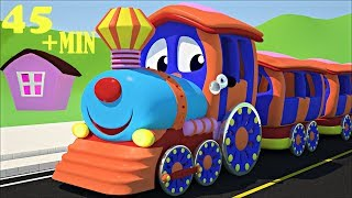 WHEELS ON THE TRAIN GO ROUND AND ROUND NURSERY RHYME PLUS MANY MORE KIDS SONGS FROM SMARTBABYSONGS