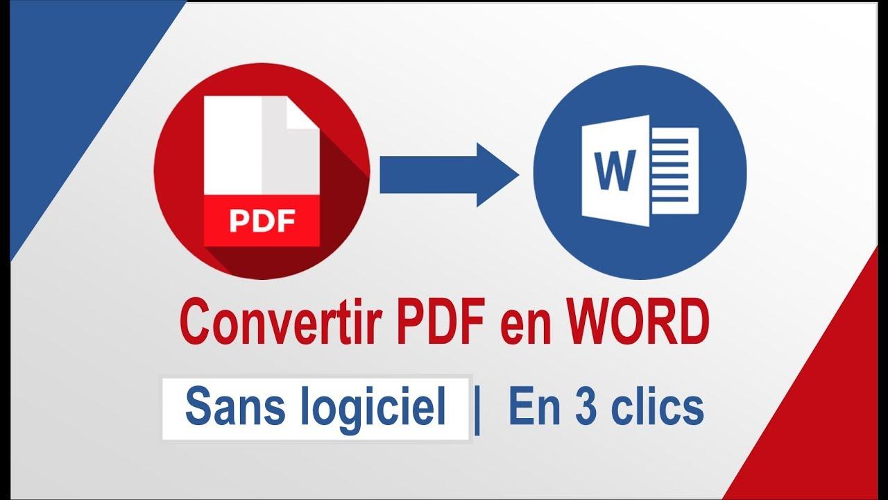 convertir un pdf en word sans logiciel suppl u00e9mentaire