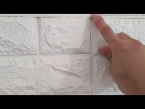 ĐÁNH GIÁ CHI TIẾT Xốp dán tường 3D - Chống nóng, xử lí tường ẩm mốc, bong tróc