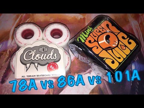 Soft Skateboard Wheels, Hybrid & Hard! Ricta Clouds & OJ Super Juice Mini