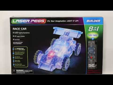 LASER PEGS Formula Racer Light Up Construction Kit 12 in 1