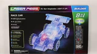 конструктор Laser Pegs Sports Car (8 in 1)
