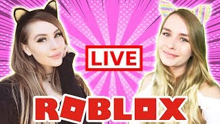 LEAHASHE & IAMSANNA ROBLOX LIVESTREAM! COME PLAY WITH US!