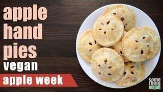 apple hand pies Something Vegan Apple Week