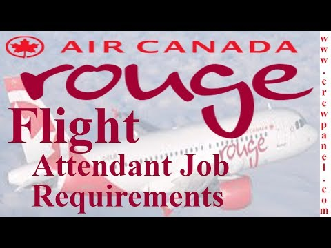 Flight Attendant Job Requirements In Air Canada Rouge | How To Become A Cabin Crew Air Canada Rouge