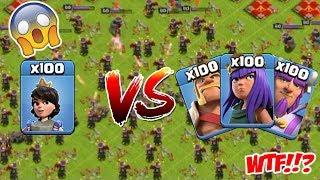 OMG! COC, 100 VS 100 ( Princess VS Heroes ), Clash Of Clans Mod