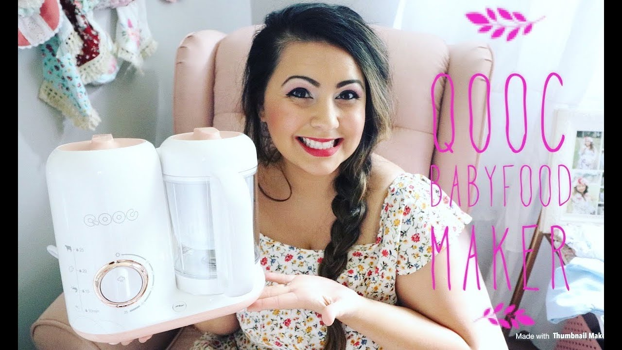 HOW TO MAKE BABY FOOD | QOOC FOOD MAKER REVIEW | BABY FOOD TUTORIAL | MUST HAVE BABY GIFTS
