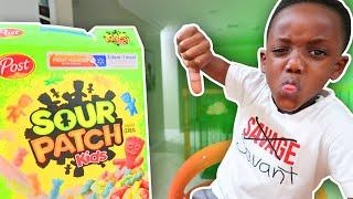 Sour Patch Cereal Taste Test!