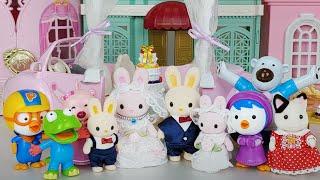 Baby doll house and Wedding toys pororo car play  - 토이몽