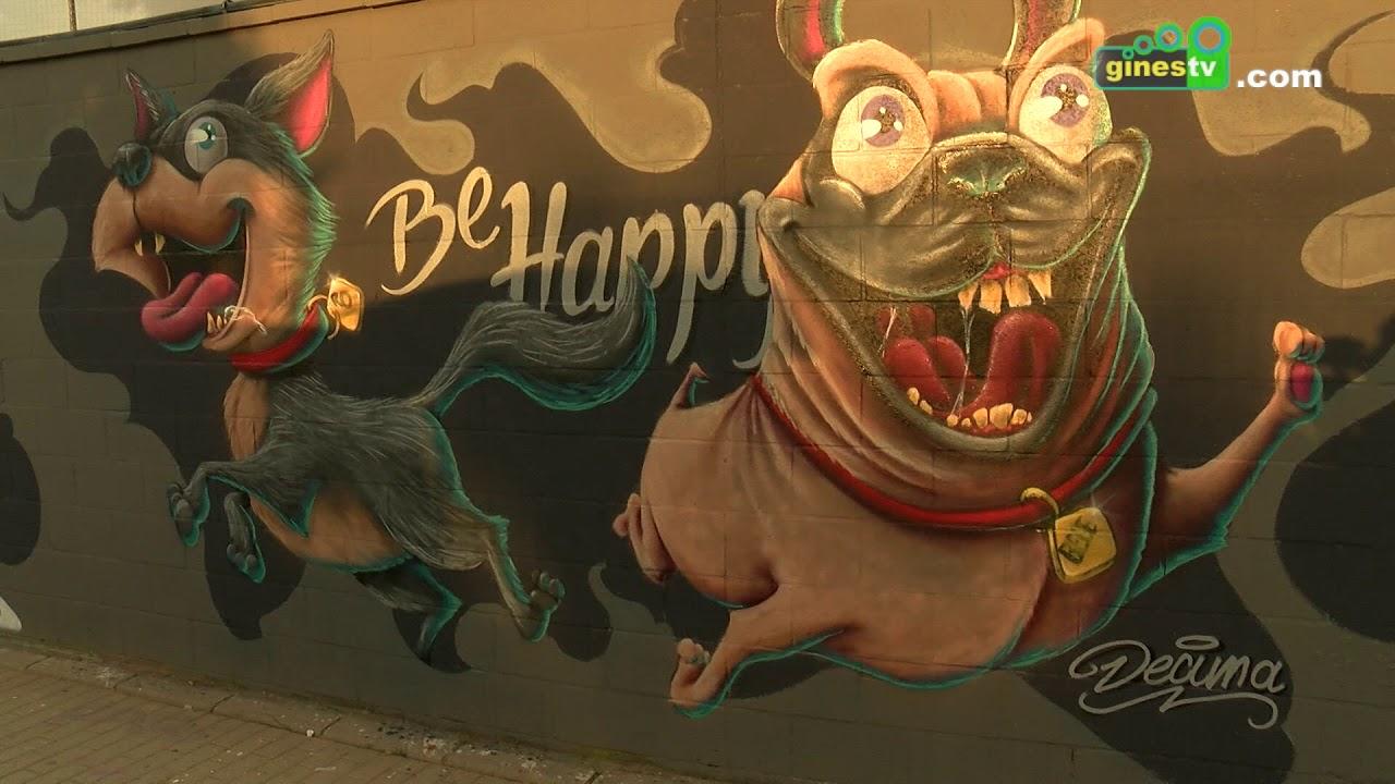Más de 100 grafiteros rinden homenaje este sábado a BECE en Gines