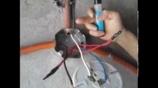 Como controlar una lámpara con dos apagadores de escalera (Método de Puentes) 1ra Parte