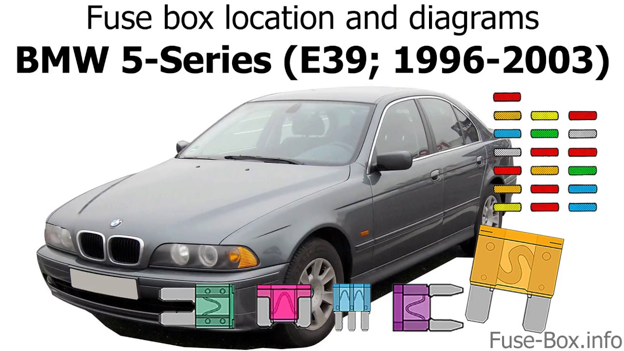 Fuse box location and diagrams: BMW 5-Series (E39; 1996-2003) A Bmw E Fuse Box Location on