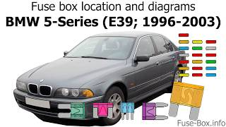 Fuse box location and diagrams: BMW 5-Series (E39; 1996-2003) - YouTube