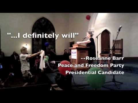 Peace and Freedom Party Presidential Candidate Roseanne Barr passes cold fusion challenge