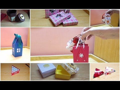 Diy Paper gift bags🛍 and boxes Making Ideas