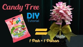 DIY || Candy Tree Tutorial | Cara membuat pohon permen untuk lebaran | Hidangan unik