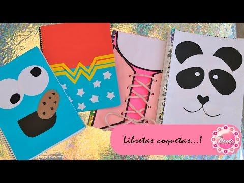 Decora tus cuadernos 4 ideas - Como decorar cuadernos ...