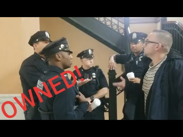 COPS OWNED! WE TELL MAYOR ABOUT DIRTY COP! 1st amendment audit FAIL!