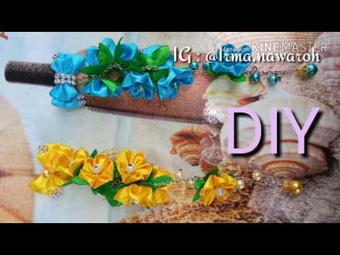 DIY || TUTORIAL MEMBUAT BROSS DAGU JUNTAI BUNGA