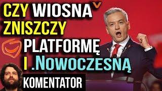 Wiosna Biedronia Zastąpi Platformę i Nowoczesną? - Jest Sondaż dla TVN - Analiza Komentator Pieniądz