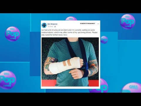 Download Youtube: Ed Sheeran posts photo of broken arm after bicycle accident