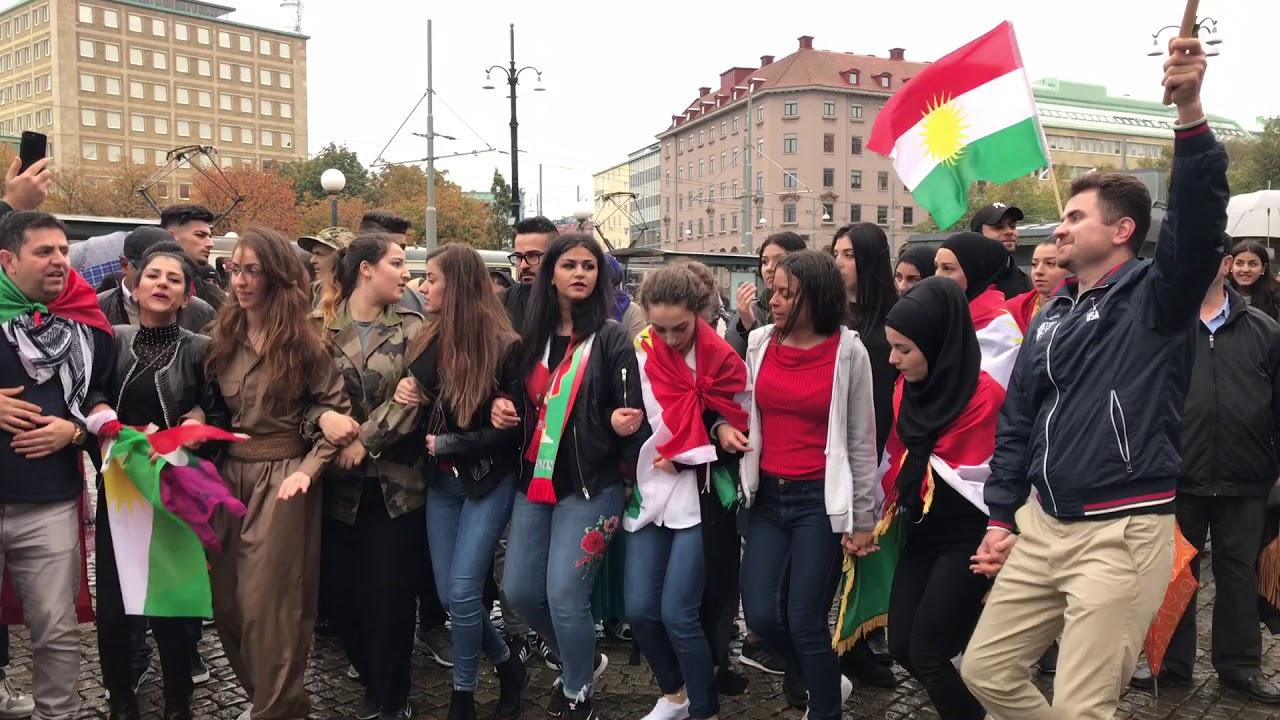 Kurdisk demonstration i goteborg