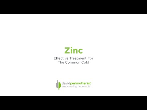 Zinc:  Effective Treatment For The Common Cold