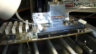Desoldering BGA chip on home made machine  .AVI