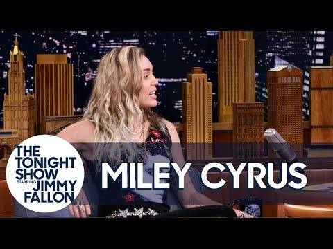 "Miley Cyrus Reveals Why She Opened Tonight Show with Dido's ""No Freedom"""