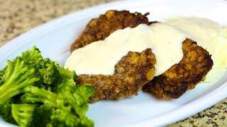 Chicken Fried Steak with Cream Gravy Recipe