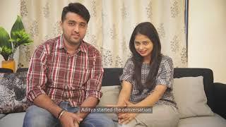 Hrishita and Aditya met on QuackQuack | India's best dating app