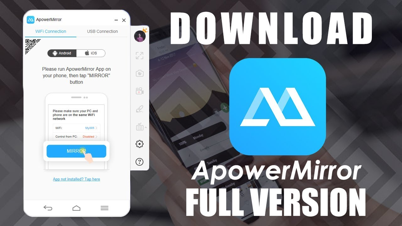 Download and Install Apower Mirror Crack - Mirroring Phone into PC [ 100%  WORK! ]