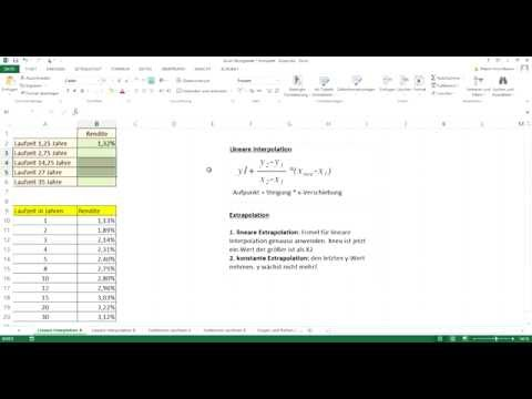 Mathe mit Excel - Interpolation und Extrapolation - Tutorial