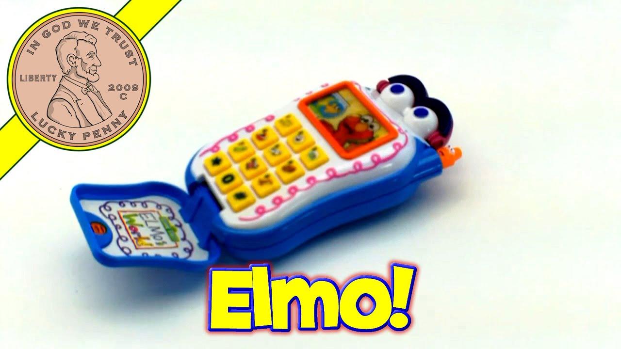 Mattel Sesame Street Elmo Talking Cell Phone Musical Baby Toy Kids
