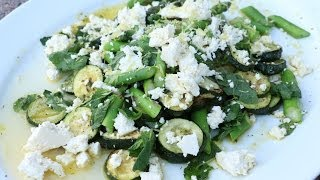 Roasted Zucchini And Asparagus Salad