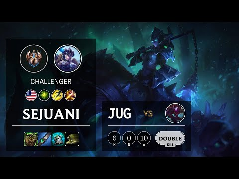 Sejuani Jungle vs Kha'Zix - NA Challenger Patch 10.16