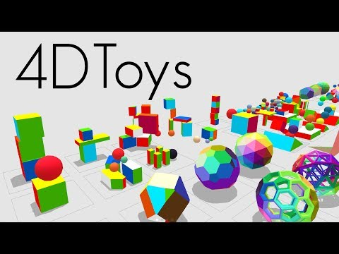 4D Toys: a box of four-dimensional toys